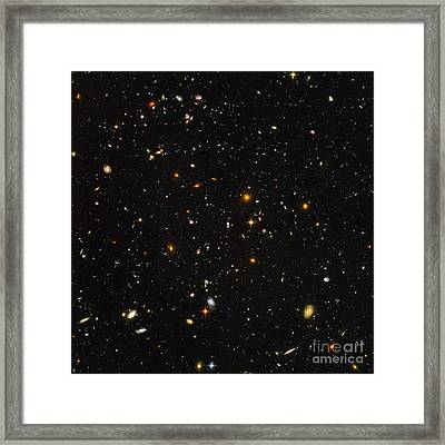 Hubble Ultra Deep Field Galaxies Framed Print by Science Source