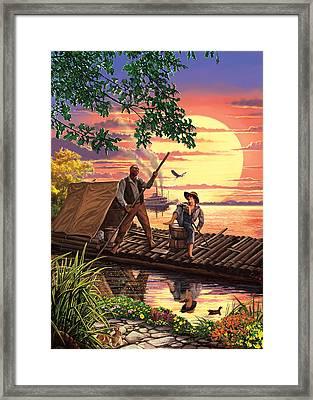 Huck Finn Variant 1 Framed Print by Steve Crisp