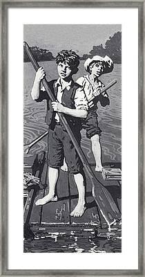 Huckleberry Finn And Tom Sawyer  Framed Print by English School