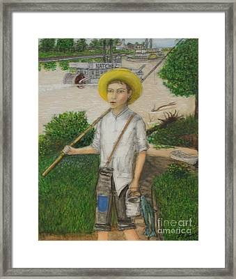 Huckleberry Finn Framed Print by Larry Lamb