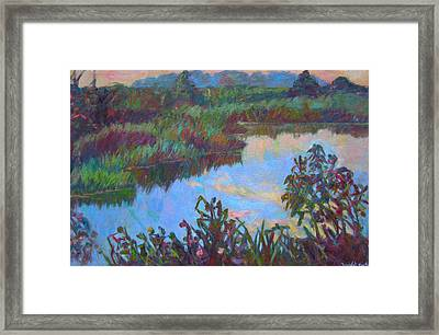 Huckleberry Line Trail Rain Pond Framed Print by Kendall Kessler