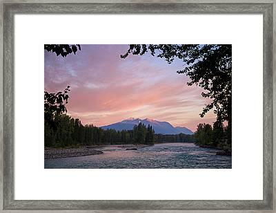 Hudson Bay Mountain British Columbia Framed Print by Mary Lee Dereske
