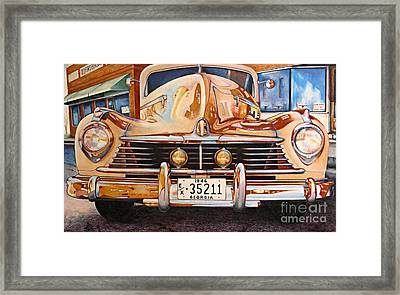 Hudson Has A Surrealistic Moment Framed Print by David Neace