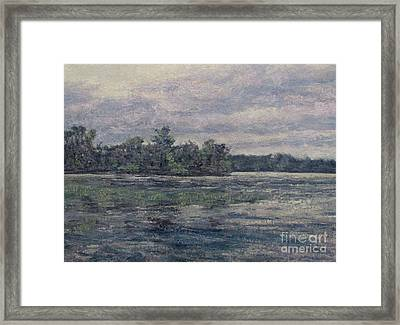 Hudson River Dusk Framed Print by Gregory Arnett