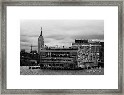 Hudson River Marine Aviation Pier 57 New York City Framed Print by Joe Fox