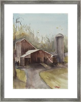 Hudson Valley Farm Framed Print by Lynne Bolwell