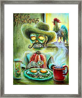 Huevos Rancheros Framed Print by Heather Calderon