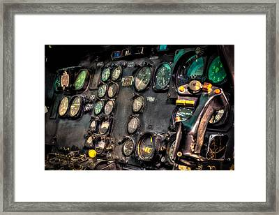 Huey Instrument Panel Framed Print by David Morefield