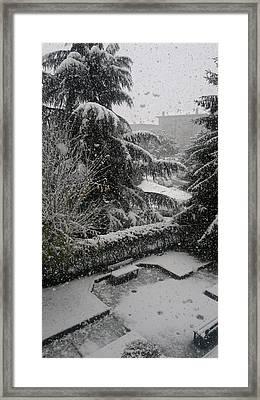 Huge Snowflakes Framed Print by Giuseppe Epifani