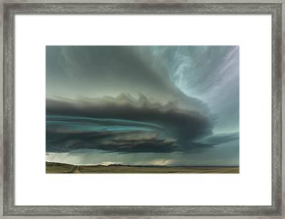 Huge Supercell Framed Print by Guy Prince