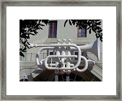 Huge Trumpet Framed Print by Janis  Tafoya
