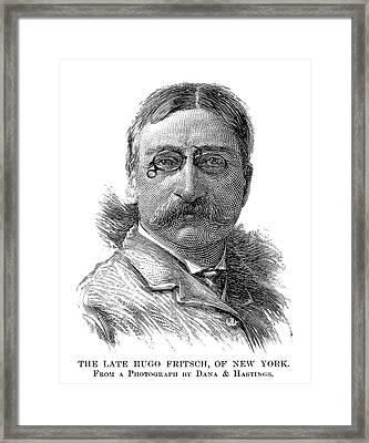 Hugo Gibert De Fritsch Framed Print by Granger