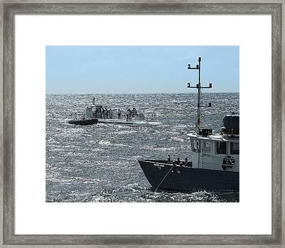 Huki Nui Ship And Atlantis Submarine Framed Print by Daniel Hagerman