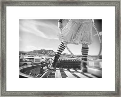 Hula Hoop Framed Print by Babur Yakar