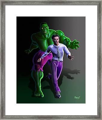 Hulk - Bruce Alter Ego Framed Print by Anthony Mwangi