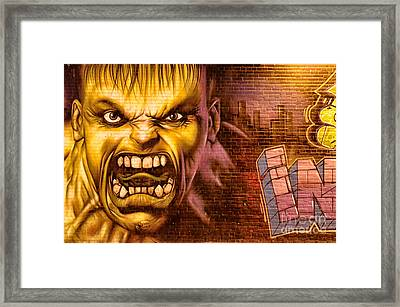 Hulk Graffiti In The Bronx New York City Framed Print by Sabine Jacobs