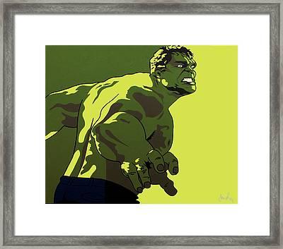 Hulk Framed Print by Ian  King