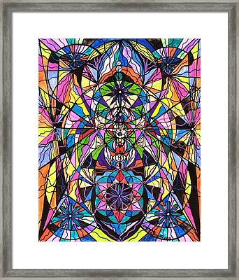 Human Ascension Framed Print by Teal Eye  Print Store