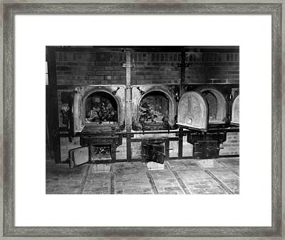 Human Bones In The Crematorium Framed Print by Everett