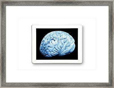 Human Brain Framed Print by Victor De Schwanberg