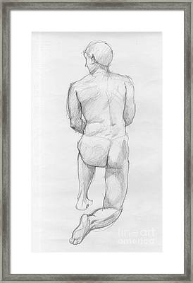 Human Figure From Back Framed Print by Peut Etre