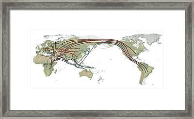 Human Genetic Map Framed Print by Mikkel Juul Jensen