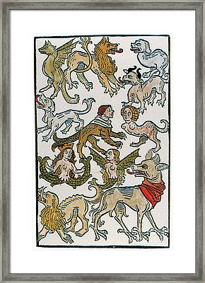 Human Monsters 1493 Framed Print by Photo Researchers