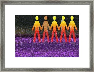 Human Race 2 Framed Print by Angelina Vick