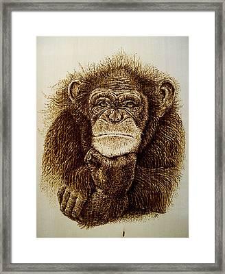 Human Thought Framed Print by Cara Jordan