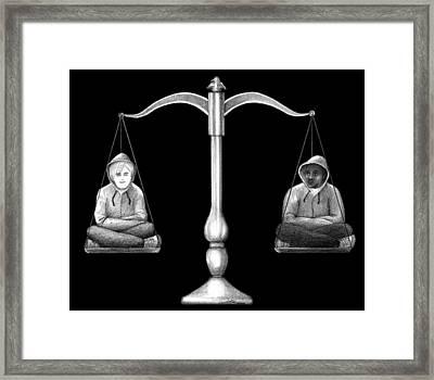 Humanity Scale Framed Print by Nori Shirasu