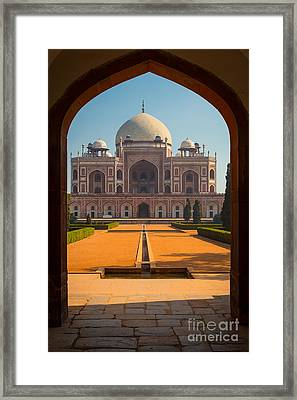 Humayun's Tomb Archway Framed Print by Inge Johnsson