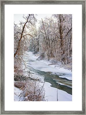 Humber River Winter Framed Print by Steve Harrington