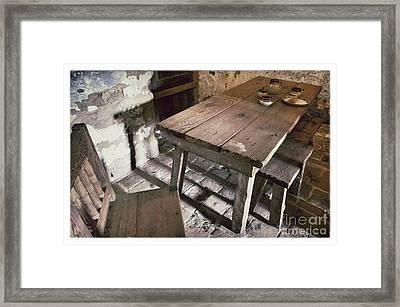 Humble Table Framed Print by John Castell