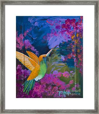 Hummers Paradise Framed Print by Tracy L Teeter