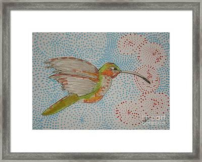 Humming Around Framed Print by Marcia Weller-Wenbert