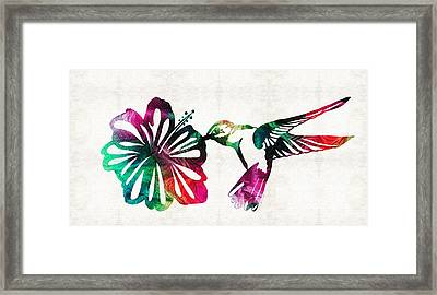 Hummingbird Art - Tropical Chorus - By Sharon Cummings Framed Print by Sharon Cummings