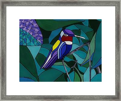 Hummingbird Hamlet Framed Print by Barbara St Jean