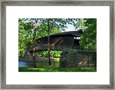 Humpback Covered Bridge 2 Framed Print by Mel Steinhauer