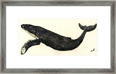 Humpback Whale Framed Print by Juan  Bosco