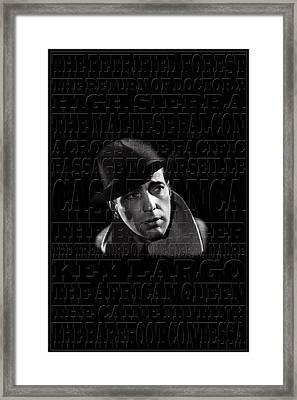 Humphrey Bogart 1 Framed Print by Andrew Fare