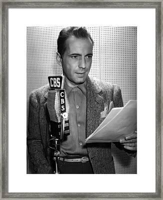 Humphrey Bogart Actor Framed Print by Daniel Hagerman