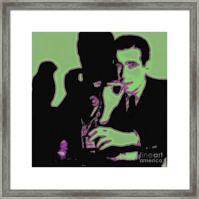Humphrey Bogart And The Maltese Falcon 20130323 Square Framed Print by Wingsdomain Art and Photography