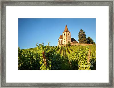 Hunawihr Church Framed Print by Brian Jannsen