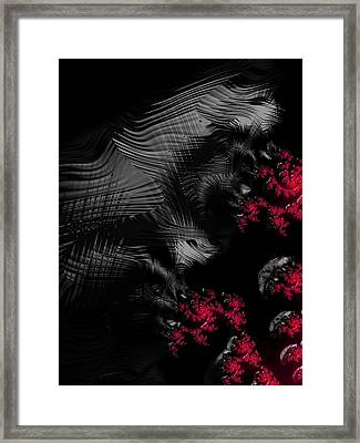 Hunger - Dark And Blood Red Fractal Art Framed Print by Matthias Hauser
