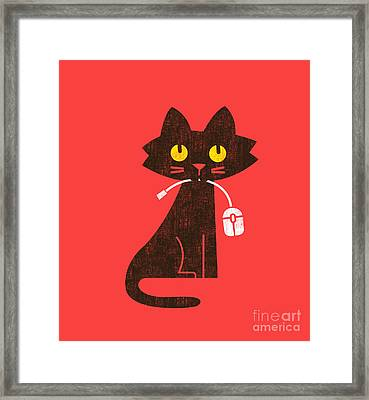 Cat And Mouse Framed Print by Nava Seas