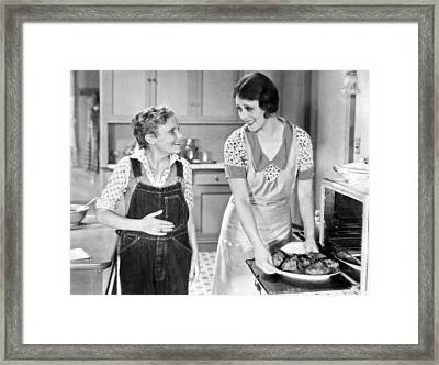 Hungry Teen At Dinnertime Framed Print by Underwood Archives