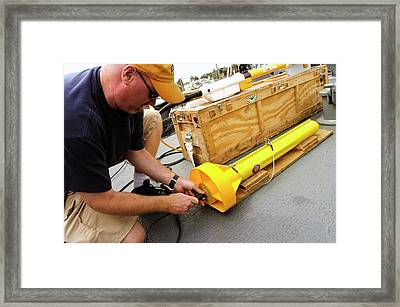 Hunt For The 'alligator' Framed Print by Us Navy/ John F. Williams