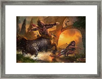 Hunt The Hunter Framed Print by Ryan Barger