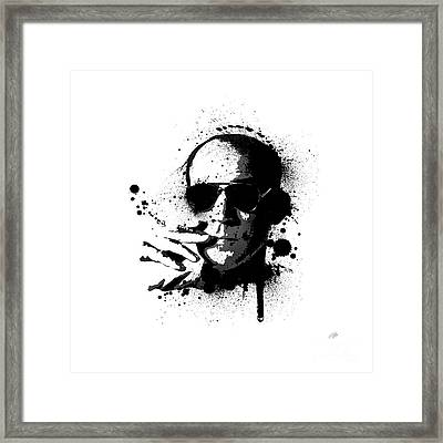 Hunter S. Thompson Framed Print by Laurence Adamson
