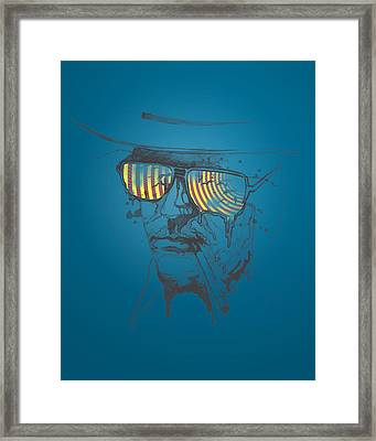 Hunter S. Thompson Framed Print by Pop Culture Prophet